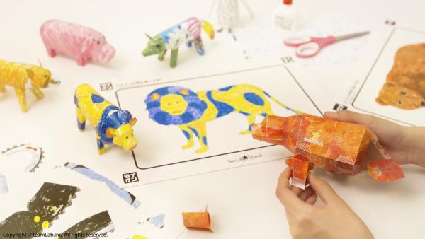 彩繪動物立體紙模型